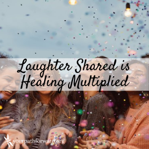 laughter shared is healing multiplied image four women laughing